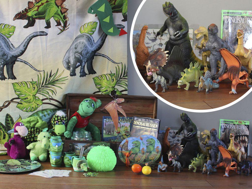 Huur de dinofeest themakist van Feestje bij Fem | kinderfeestjes Schaijk