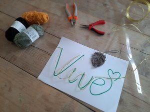 workshop werken met ijzerdraad kinderfeestjes feestje bij fem schaijk