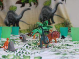tafel dinofeestje themakisten feestje bij fem schaijk
