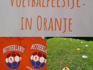 kinderfeestje in oranje voetbalfeestje themakist