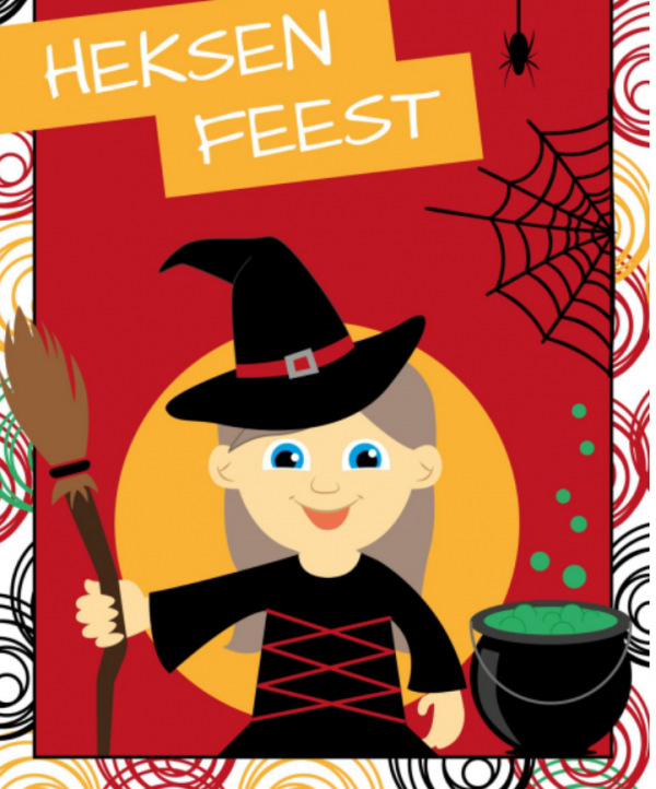 kinderfeestje themakist heksen rood-zwart schaijk