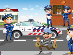 themakist kinderfeestje politie met boeven